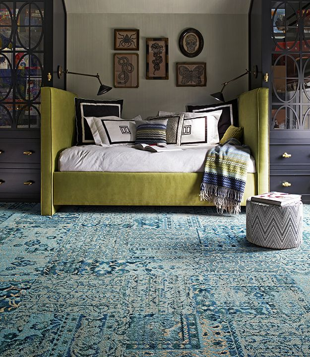 I Absolutely Love This Living Room Green Carpet Tiles Home