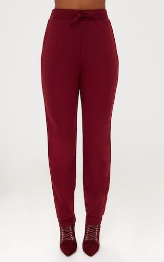 Low Shipping Fee Sale Online PRETTYLITTLETHING Maroon Ultimate Sweat Joggers Cheap Manchester Great Sale hZadv9F0e