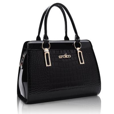 Women Fashion Handbag Designer Tote Purse Top Handle Bag with Beautiful Pendant Wine