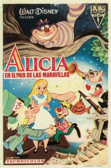 1951 Alicia En El País De Las Maravillas Tt0043274 Esp Movie Posters Vintage Comic Book Cover Comic Books