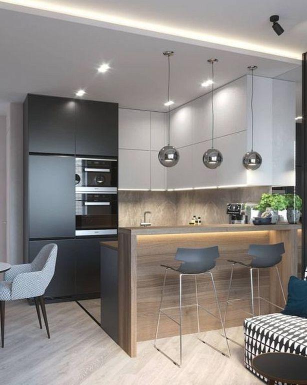 28 Fabulous Modern Kitchen Design Ideas For Small Apartment Kitchen Design Kitchen Interior Design Modern Modern Kitchen Interiors