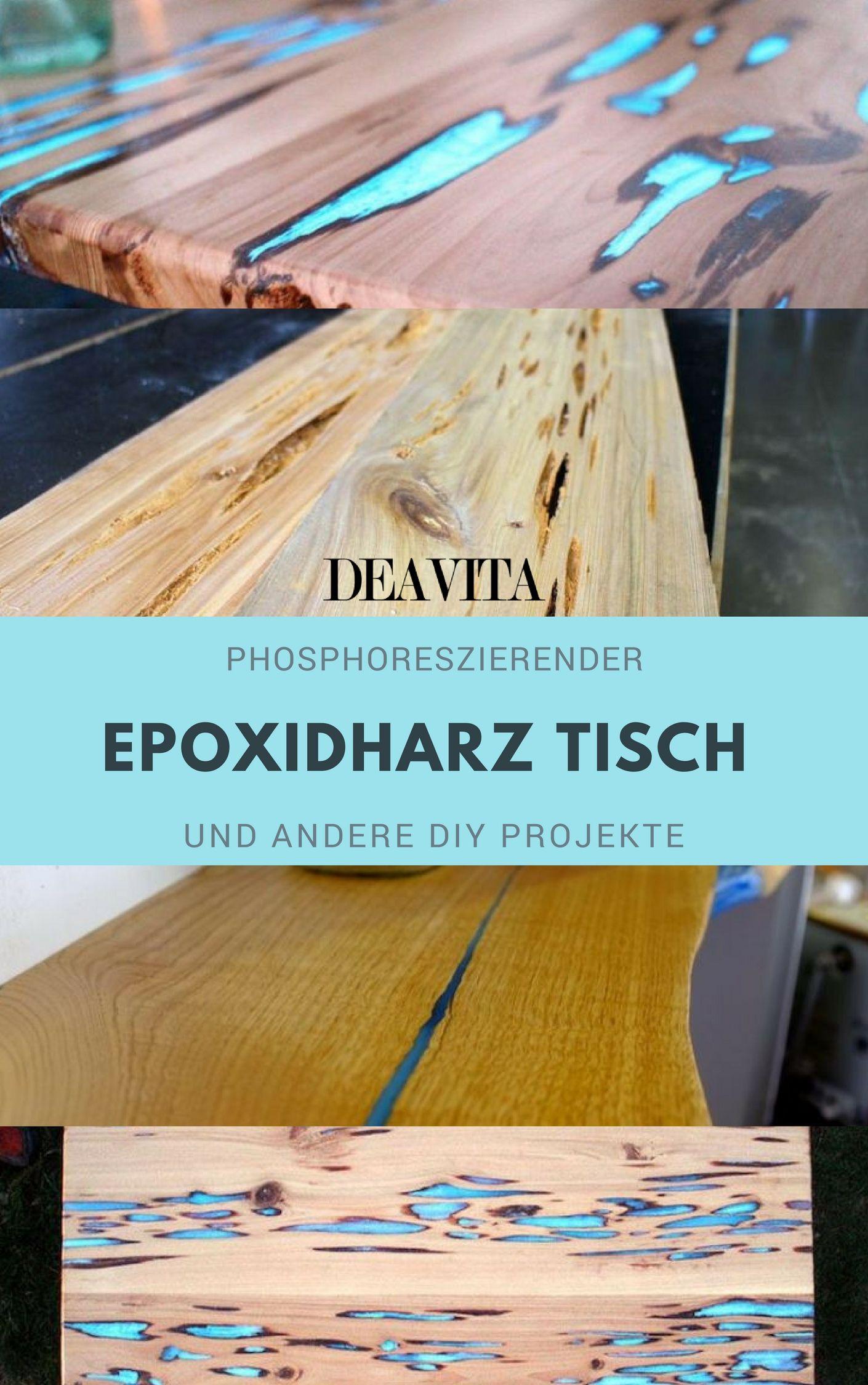 Phosphoreszierender Epoxidharz Tisch Und Andere Diy Projekte