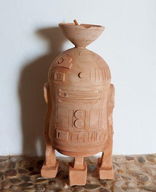 Terra Cotta R2-D2 Ashtray