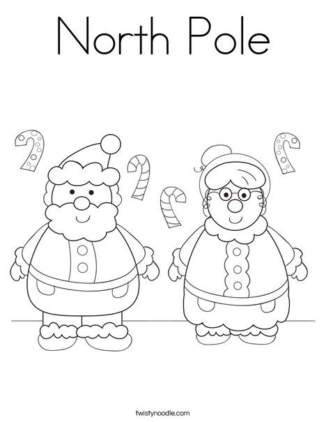 North Pole Coloring Page Twisty Noodle Christmas Coloring