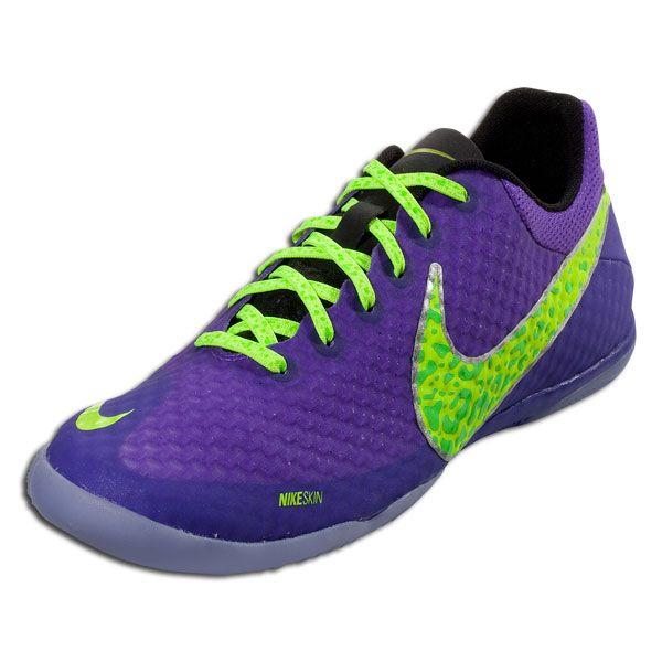 163516fb1 Nike Elastico Finale II - Pure Purple Volt Electric Green Indoor Soccer  Shoes