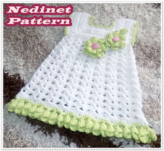 Crochet baby dress pattern crochet baby clothing pattern | Niños ...