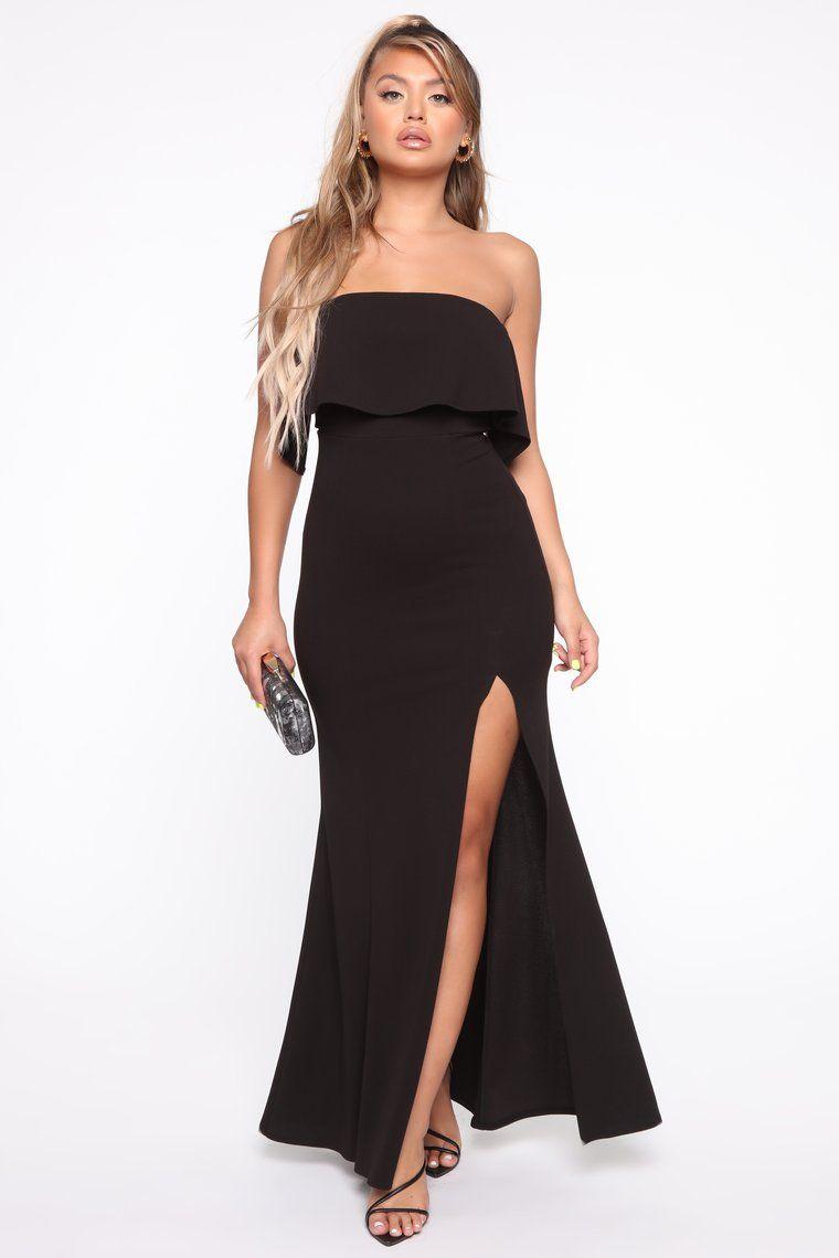 The True Meaning Maxi Dress Black Black maxi dress