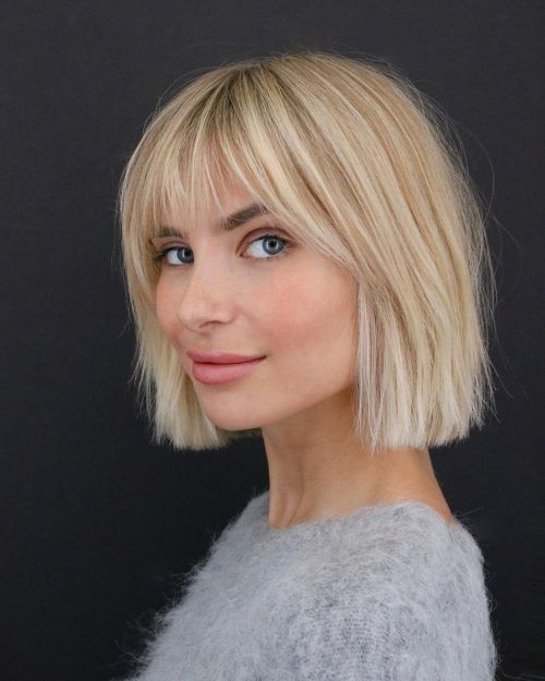 23 Short Hair with Bangs Hairstyle Ideas (Photos I