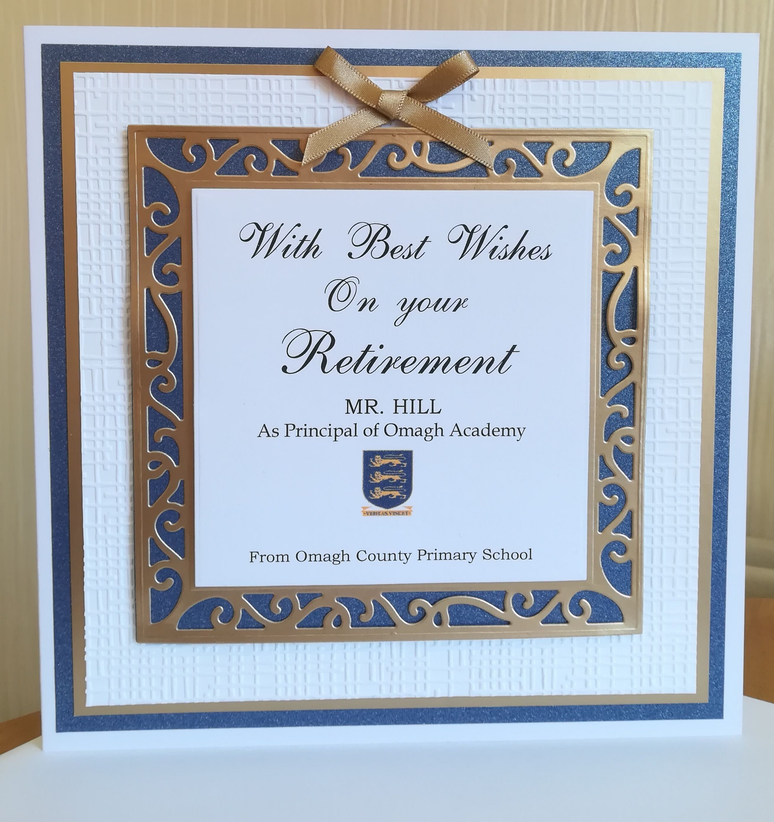 Retirement card using tonic dies | My Personalised Cards ... |Handmade Retirement Cards