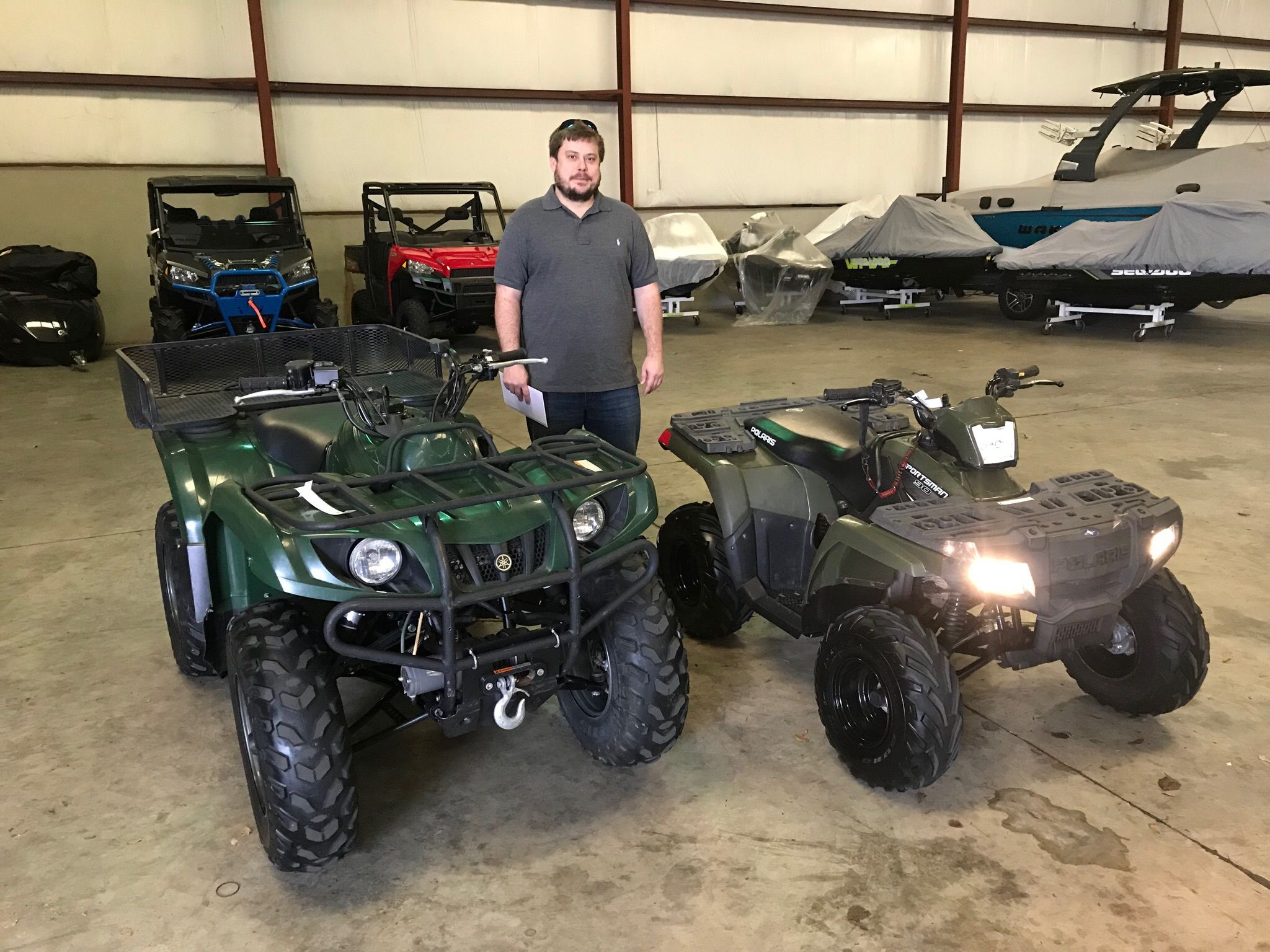 medium resolution of congratulations to arthur walker from kiln ms for purchasing a 2006 yamaha bruin 250 and a 2013 polaris sportsman 90 at hattiesburg cycles