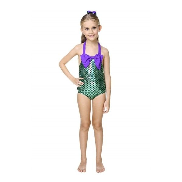 Kids Color Block Mermaid One Piece Swimsuit With Bow Headwear ($14) ❤ liked on Polyvore featuring swimwear, one-piece swimsuits, white, bow one piece bathing suit, white swimsuit, colorblock one piece bathing suit, bow swimsuit and colorblock swimsuit