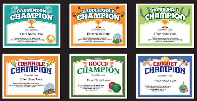 Backyard games certificates templates bocce badminton cornhole backyard games certificates templates bocce badminton cornhole ladder golf horseshoes and yelopaper Choice Image