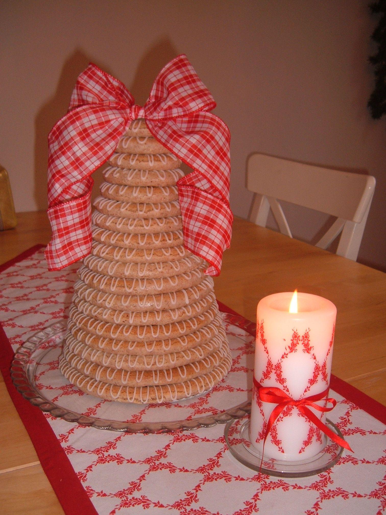 Norwegian Christmas cake - Kransekake | Kransekake, sweet Kransekake ...