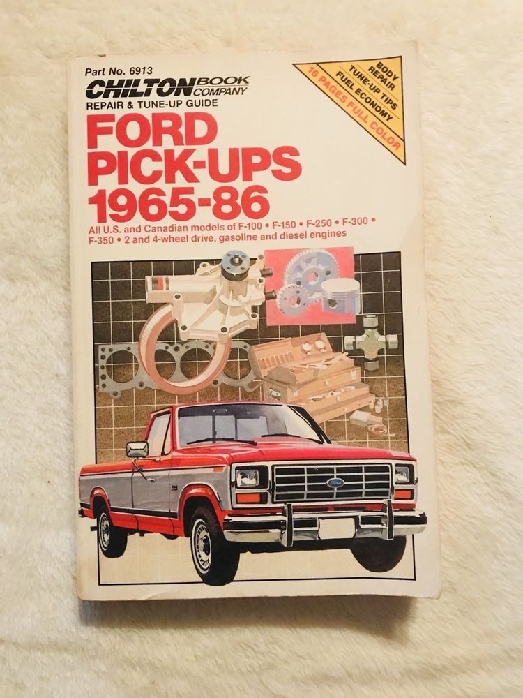 Chilton Repair Manual 65-86 Ford Pickup F100 F150 F250 F350 ... on 98 ford f-150 wiring schematics, 1969 mustang 302 engine schematics, 1986 ford f-150 electrical schematics,