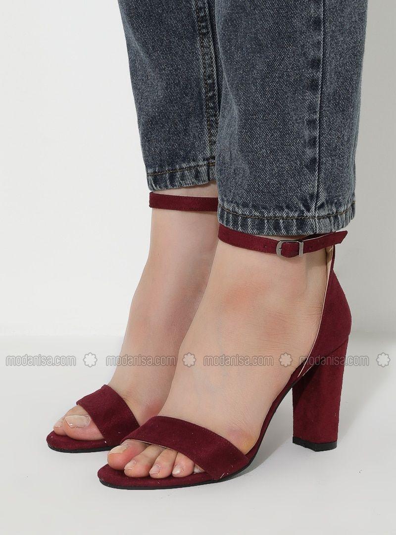 خمري حذاء كعب عالي صنادل Heels High Heel Sandals Heeled Mules