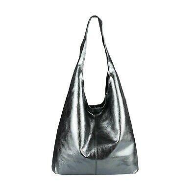 Photo of ITAL LADIES LEATHER BAG METALLIC Shopper handbag shoulder bag hobo bag: EUR …