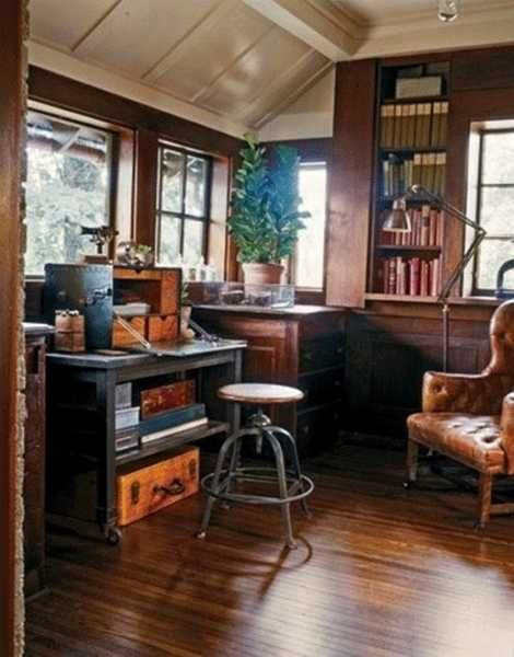 25 Inspiring Ideas for Home Office Design in Vintage Style | Pinterest