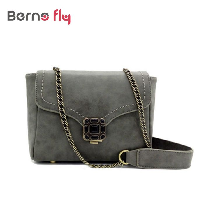 Vintage Women Handbag Long Chain Crossbody Bags For Women Bag Ladies