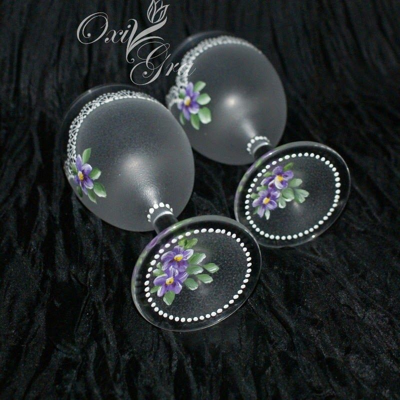 #OxiGra #decorative #painted #lace #bottle #glasses #szko ...