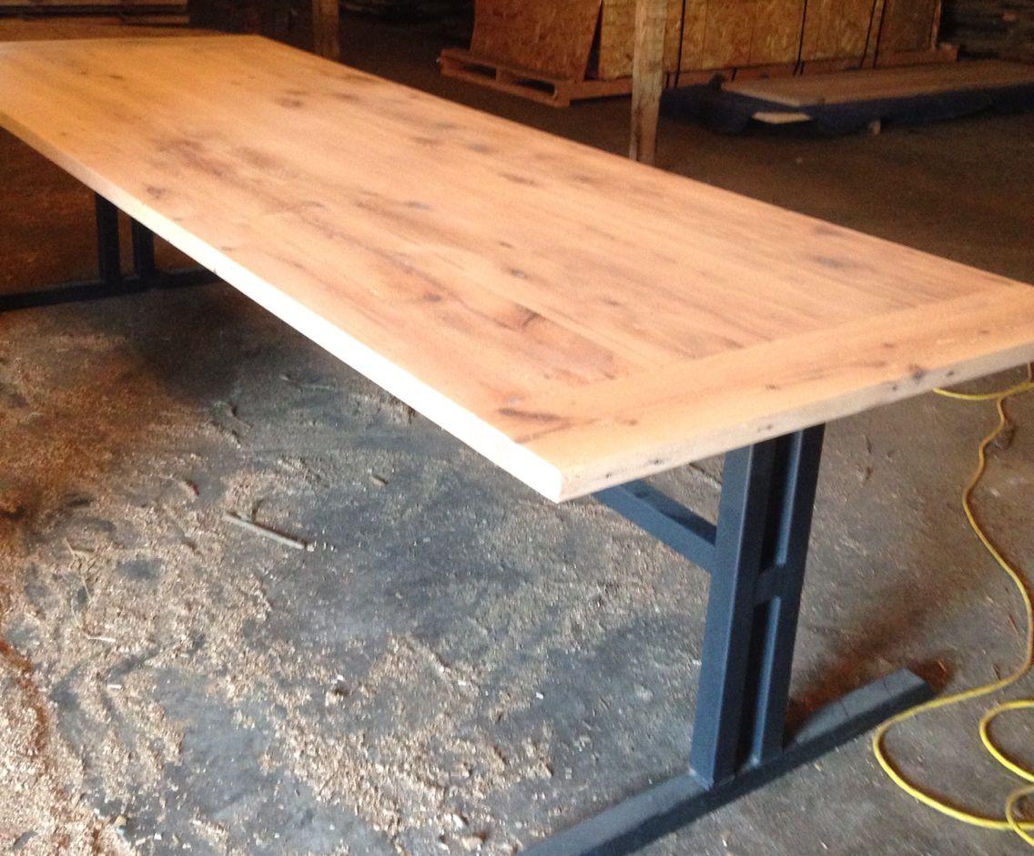 reclaimedwooddiningtable Antique Oak Dining Table with Custom