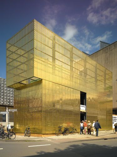 Decorative metal sheet copper for facade claddings for Laser sur facade
