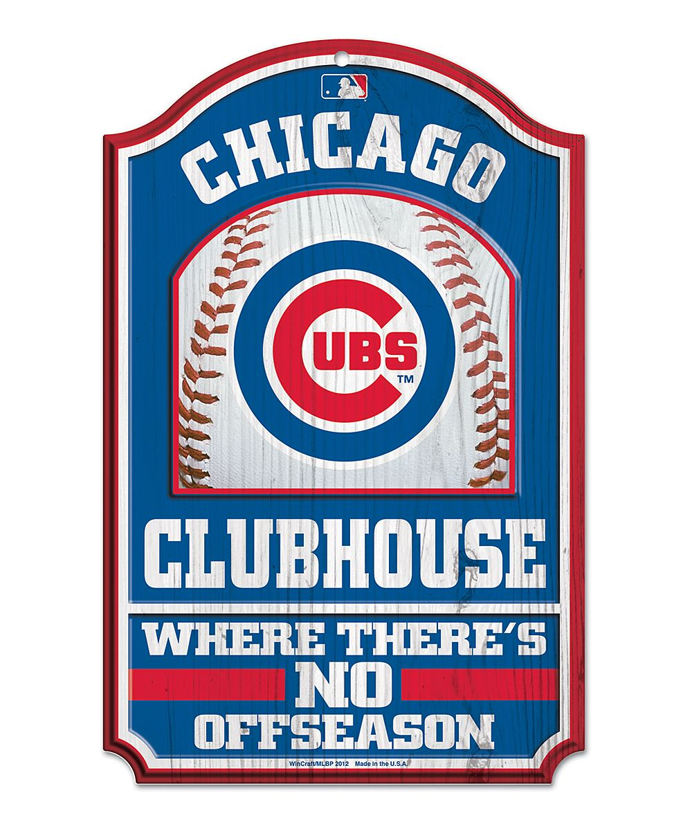 Chicago cubs clubhouse wood sign club house wood signs