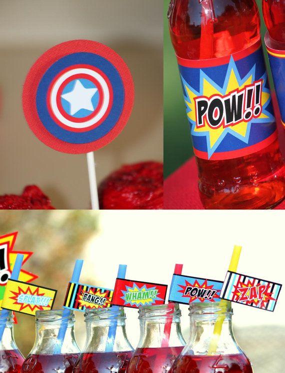 Captain America Collection Super Hero Party Superheroes Boys