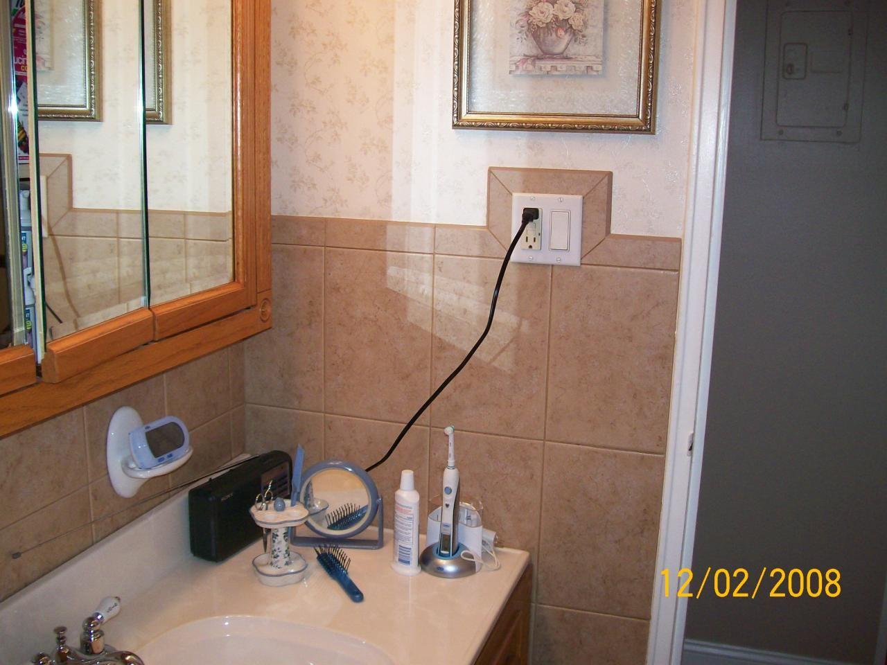 Tile around light switch bathroom pinterest light switches tile around light switch dailygadgetfo Choice Image