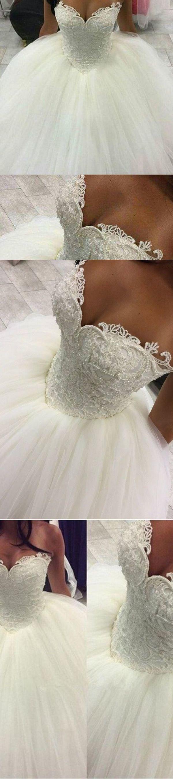 2019 Neue Ankunfts-Schatz-Hochzeits-Kleider Tulle-Ballkleid schnüren sich oben