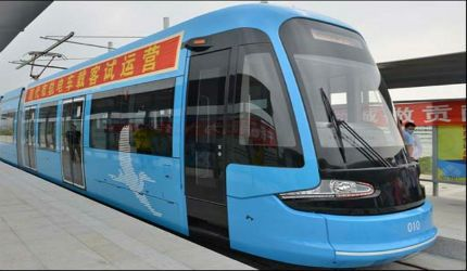 Shenyang tramway system was opened for public in August 2013 during the 12th China National Games.