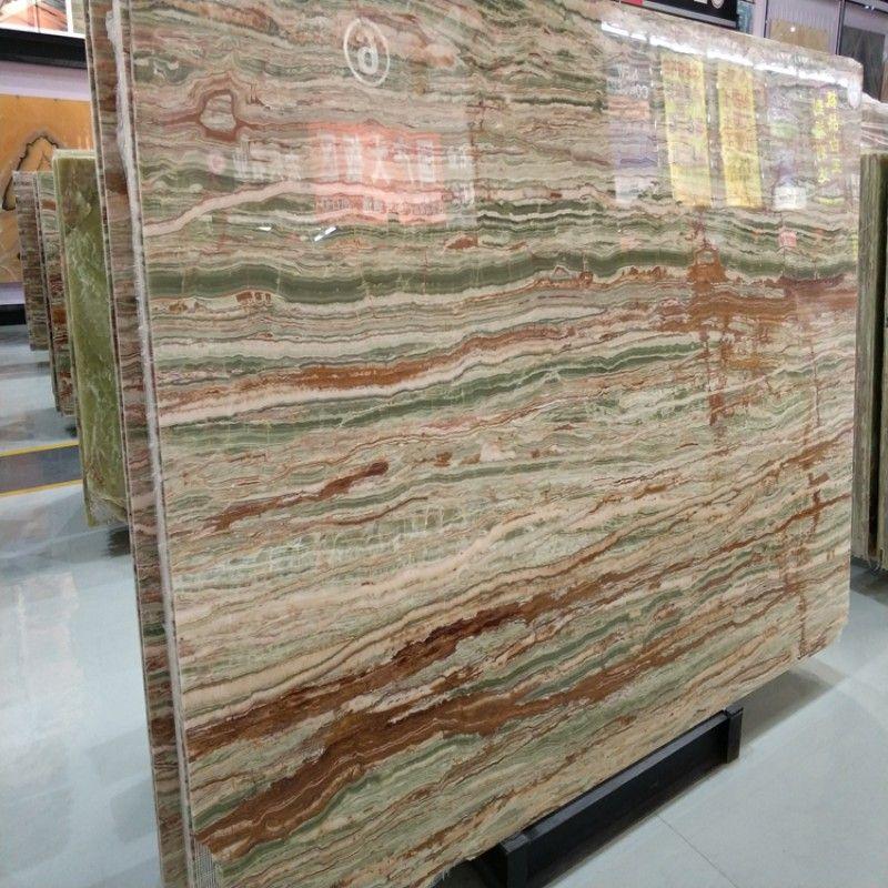 Polished Green Onyx Slab Bamboo Joint Onyx Slab China Supplier