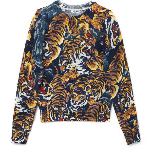 Kenzo Flying Tigers Sweater ($440) ❤ liked on Polyvore