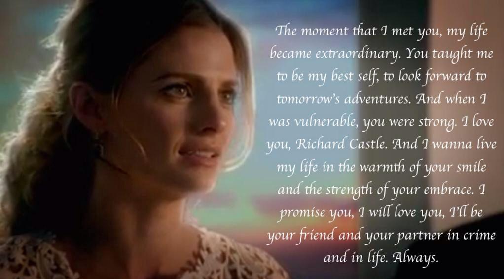 Caskett wedding - Kate's vows