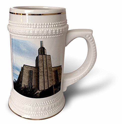 Jos Fauxtographee Realistic - The New Zealand LDS Temple Done in a Fresco Finish Looking Up Towards The Blue Sky - 22oz Stein Mug (stn_48422_1) 3dRose http://www.amazon.com/dp/B0147LXP2C/ref=cm_sw_r_pi_dp_IiK6vb13JZPT2