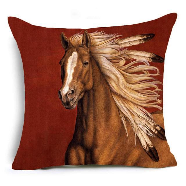 Majestic Horses Decorative Cushion Cover