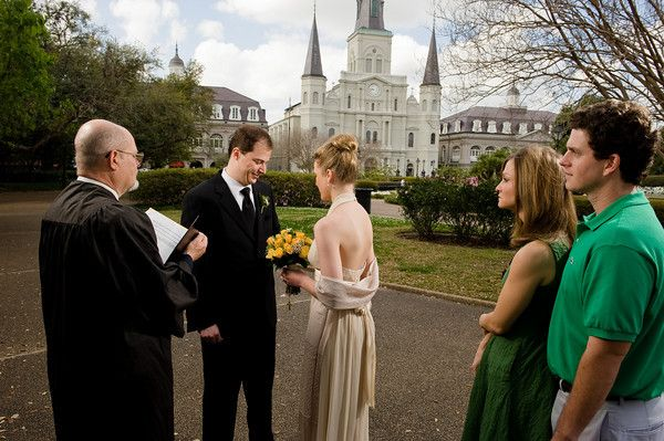 Elope To New Orleans Jackson Square French Quarter Wedding Plan