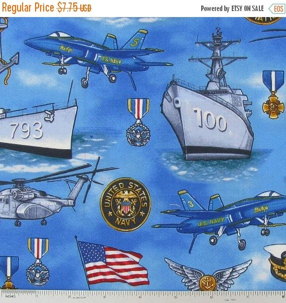 ❘❘❙❙❚❚ ON SALE ❚❚❙❙❘❘    Nice US Navy Fabrics--...Great for Quilting shirts and more...This listing is for 1/2 yd. x 44 in Very Hard Find Fabric...Limited yardage remaining...    SPECIALS:    40-70% off Patterns n Books...SALE...    FREE Shipping on 3rd and 4th items when purchased within 24 hrs of 1st purchase.    Thanks for visiting our Site here on Etsy. Happy Shoping for what you love... | Shop this product here: http://spreesy.com/Altcollect/960 | Shop all of our products at…