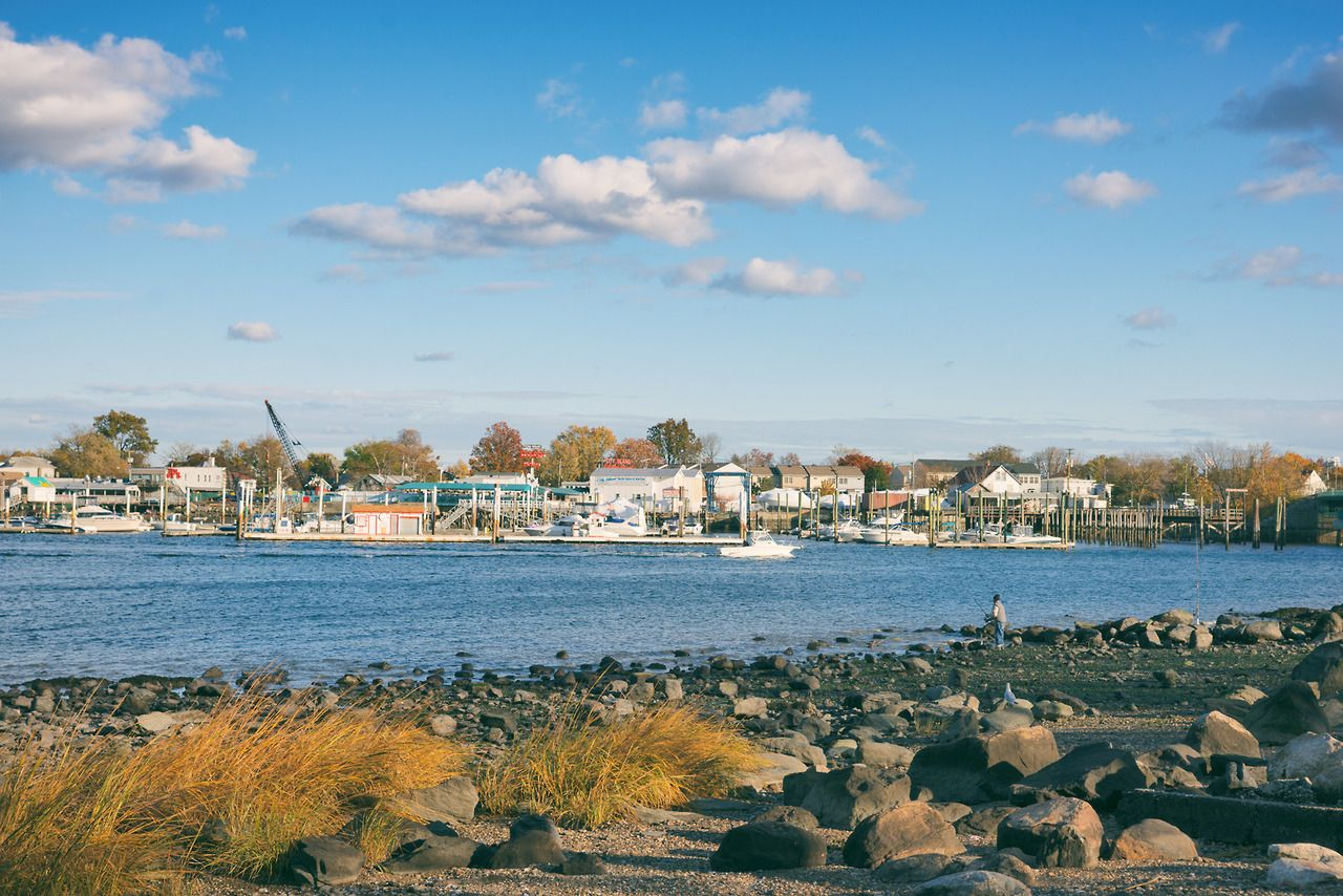 Autumn Orchard Beach And City Island Bronx