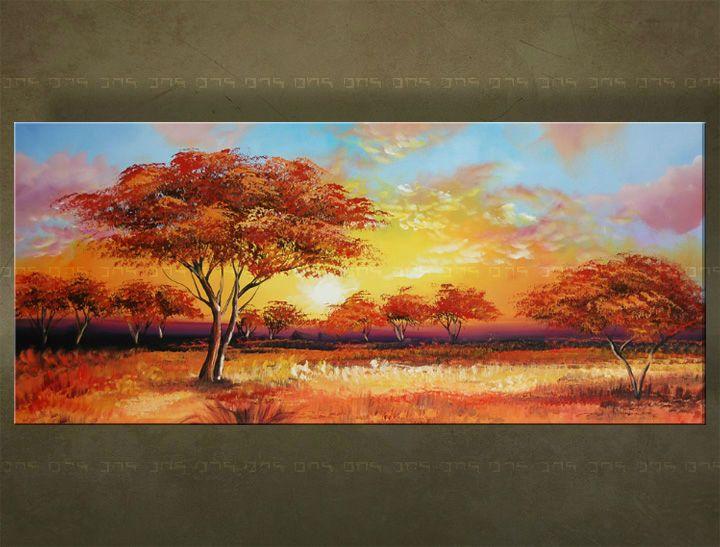 Ručne maľovaný obraz STROM 1 dielny 5842FA