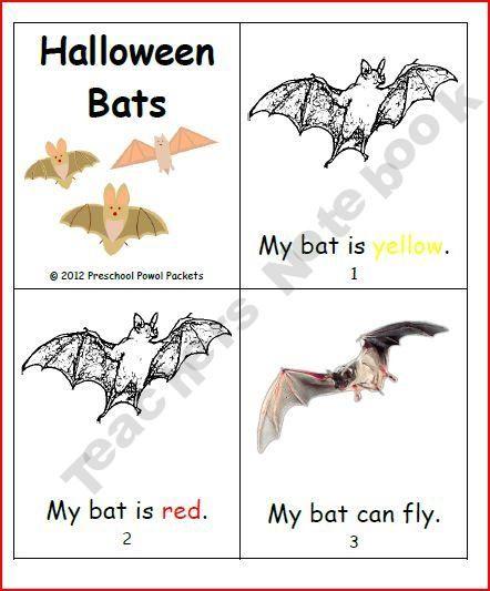 Halloween Bats Mini Book product from PreschoolPowolPackets on TeachersNotebook.com