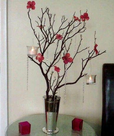 Diy Manzanita Tree Centerpiece Wedding