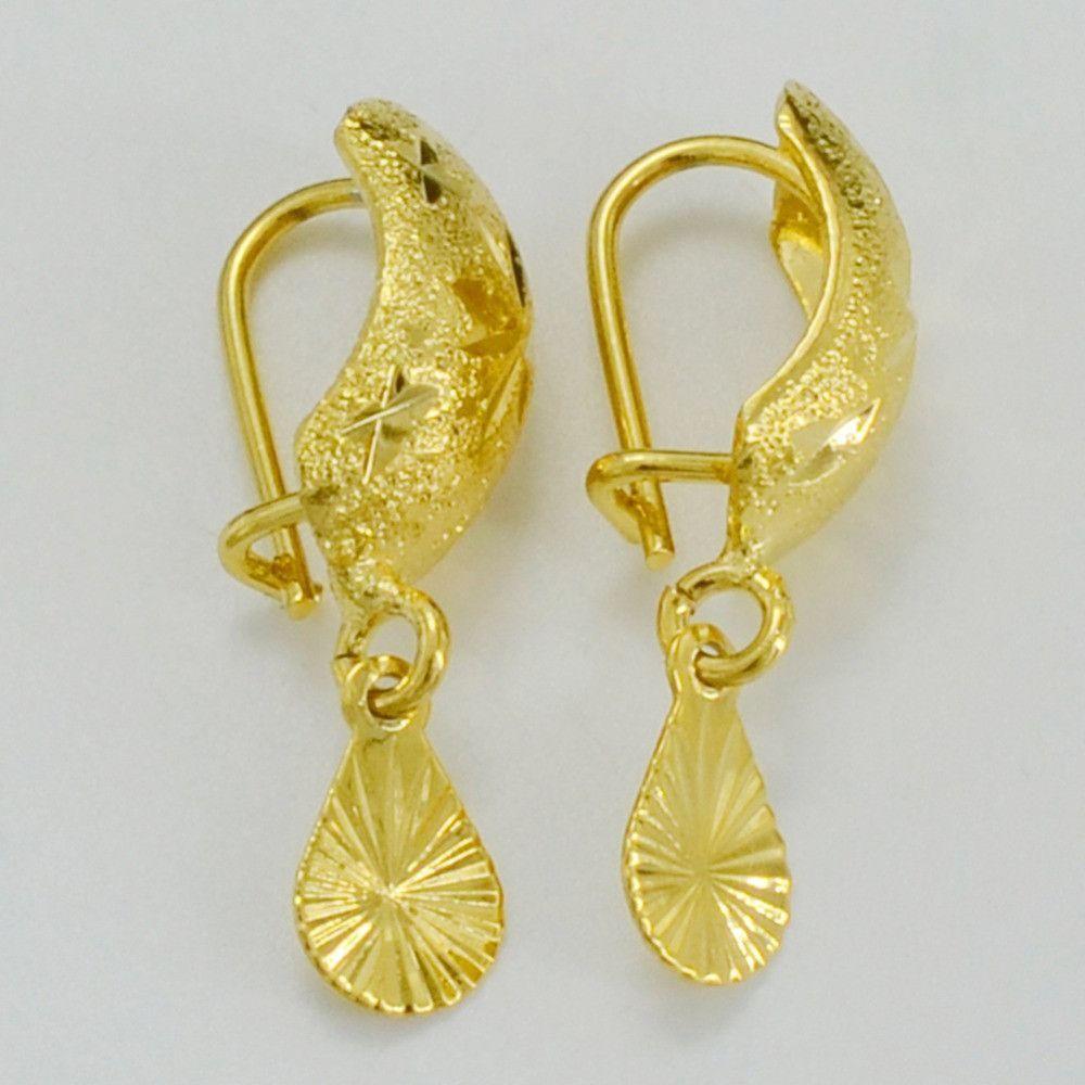 Africa Earrings for Women / Girl, 24K Yellow Gold Plated Dubai ...