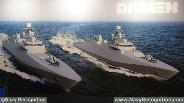 At Balt Military Expo 2016 held in Gdansk, Poland, from 20 to 22 June 2016, Dutch shipbuilder DAMEN unveiled updated designs of its SIGMA family. A company representative explained to Navy Recognition that the updated designs feature more sleek, modern and stealthy lines. It is based on the same hull as the SIGMA 10514 PKR already selected by the Indonesian Navy (TNI AL).