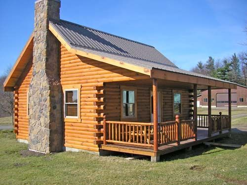 Small Cabin Homes With Lofts | The Union Hill Log Cabin, 800