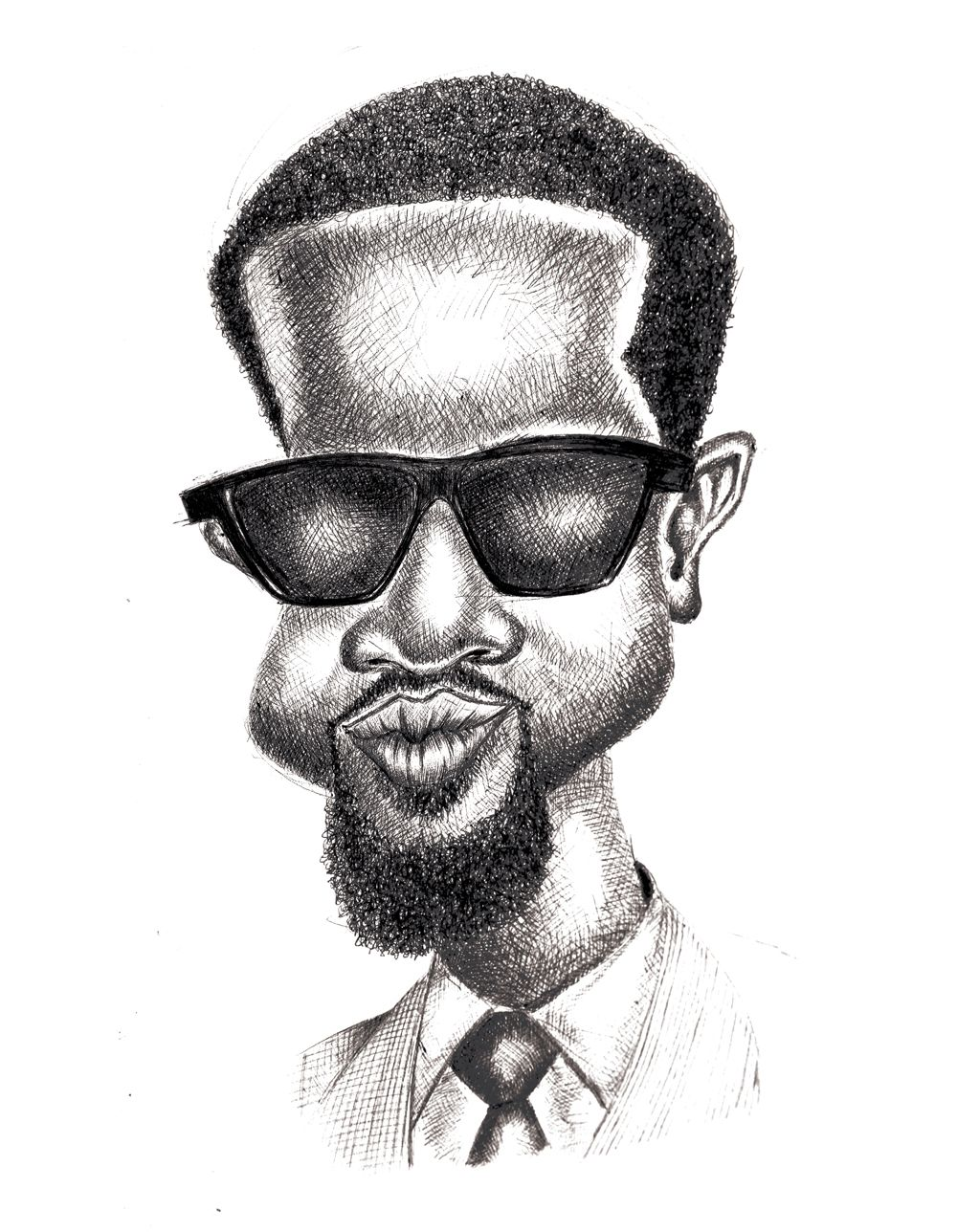 Sarkodie caricature feature in the 2nd edition of africanmuzikmag