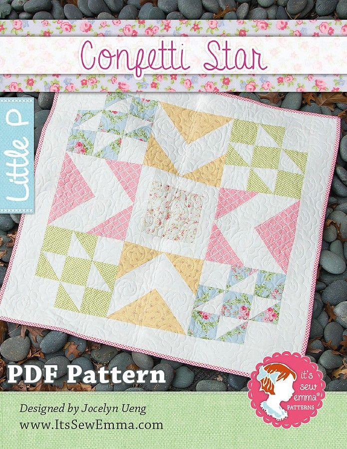 Confetti Star Downloadable PDF Quilt Pattern   It'