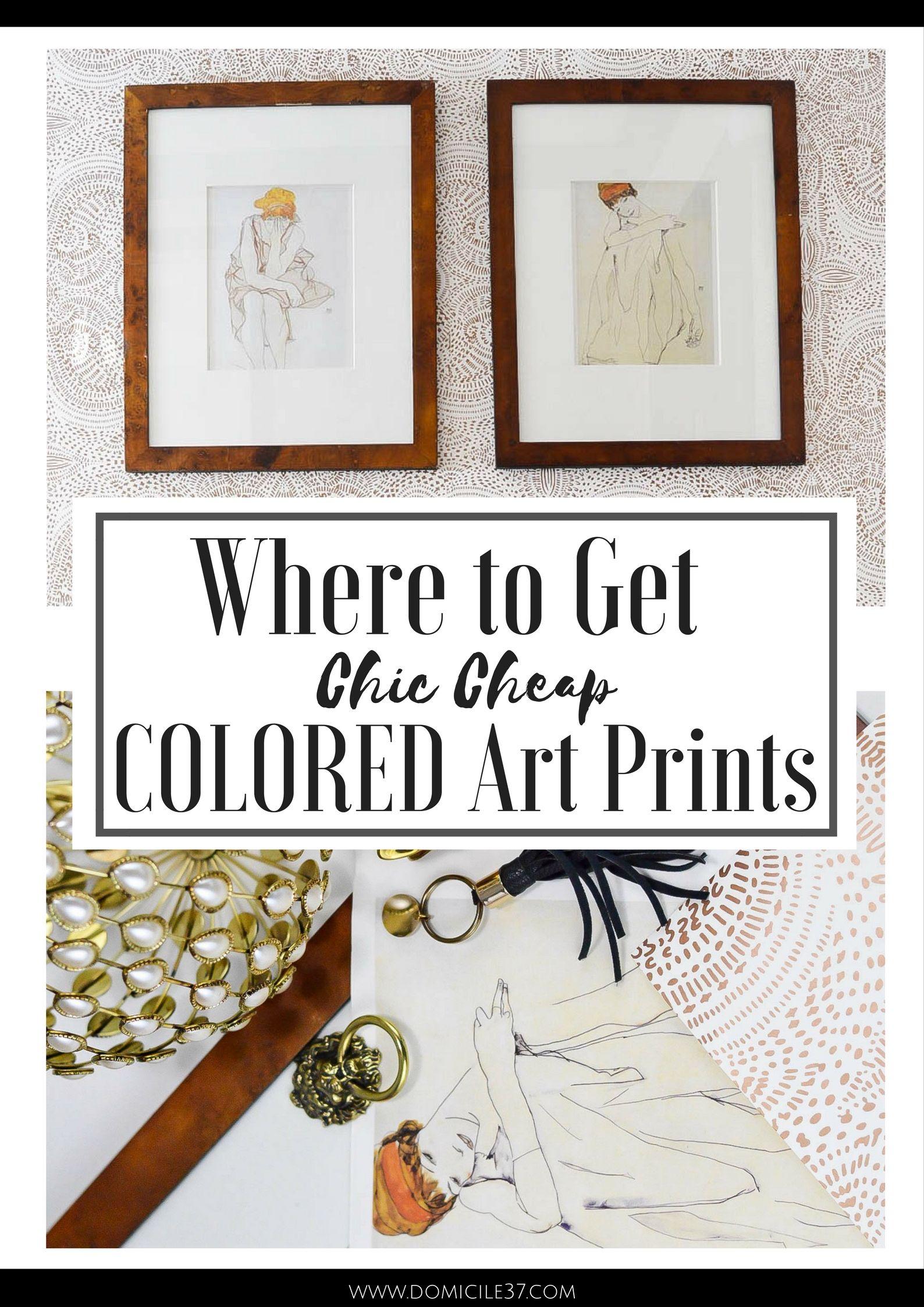 Sharing My Source On Where To Get Chic Cheap Colored Art Prints | DIY  Framed Calendar Art | How To Frame Calendar Art
