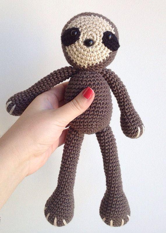 Sloth Amigurumi Crochet 25 € www.marigurumishop.etsy.com   amigurumi ...