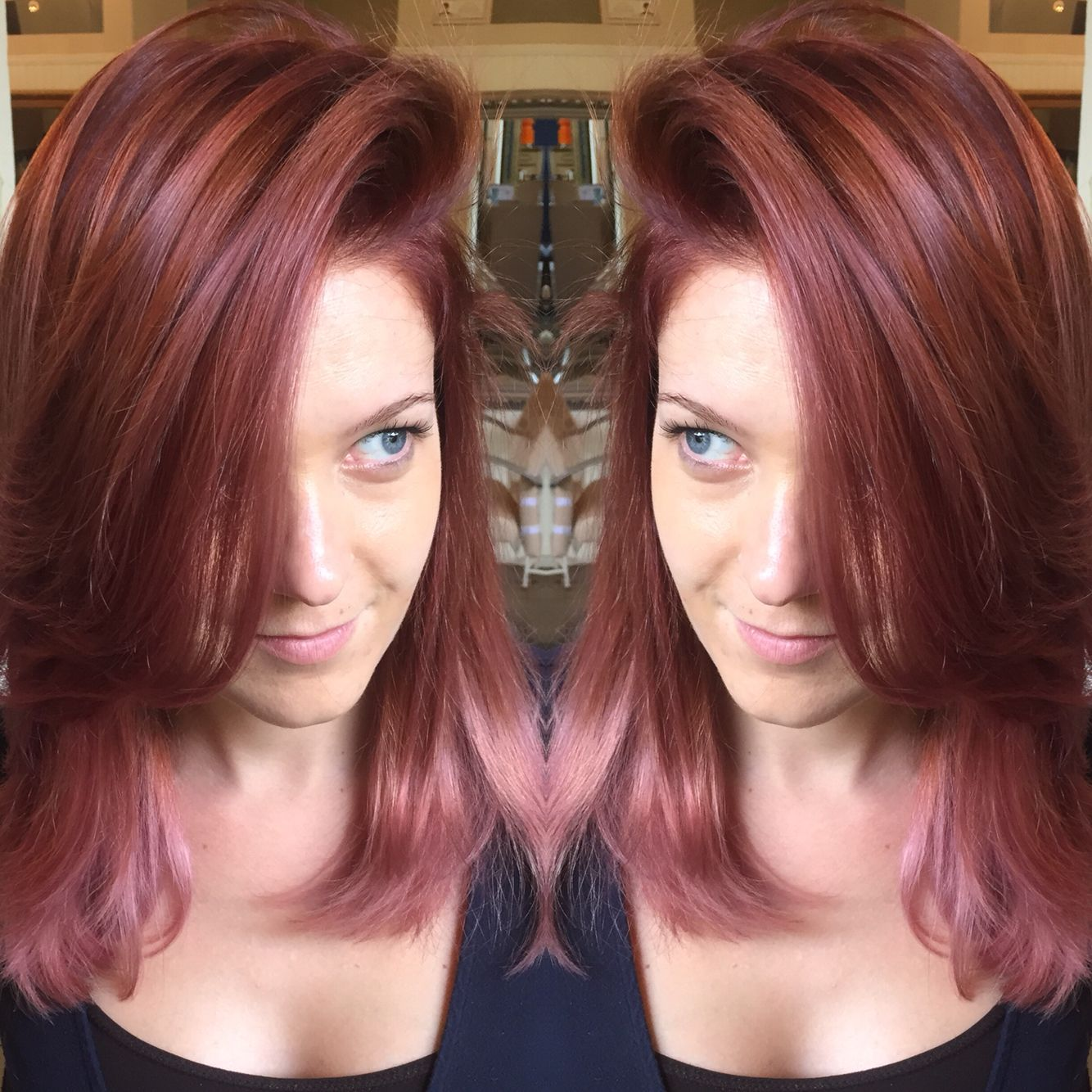 My New Red To Pink Ombre Balayage With Schwarzkopf Igora P11 89 On
