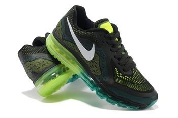 buy popular 10842 ceef2 popular  fashion for  womens Air Max 2014 Black Green Trainers For Men  running shoes 2015